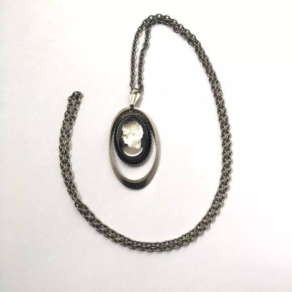 Vintage jewelry cameo pendant necklace black translucent poshmark vintage cameo pendant necklace black translucent mozeypictures Choice Image